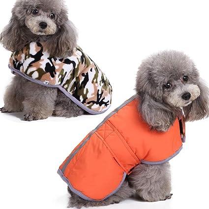 Winter Warm Dog Raincoat Mesh Padded Wind//Waterproof Dog Coats Hoodie Jackets