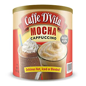 Caffe D'Vita Mocha Instant Cappuccino Mix / Powder 4 lb. can (64 oz.)