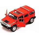 Kinsmart 1:40 Scale 2008 Hummer H2 SUV Diecast Car, Red