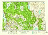 Klamath Falls OR topo map, 1:250000 scale, 1 X 2 Degree, Historical, 1958, updated 1958, 22.1 x 29.6 IN - Tyvek
