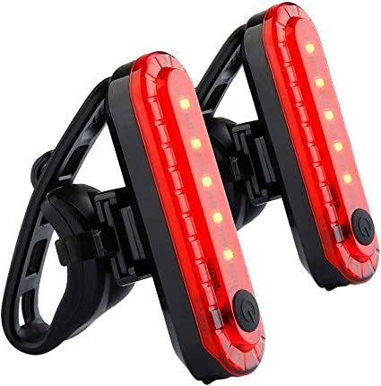 LED Bicycle Cycling Tail Light USB Rechargeable Bike Rear Warning Light 4 Modes