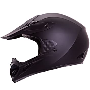Mate Negro Motocross ATV Dirt Bike Open Face casco modelo # 602