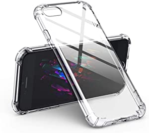 UGREEN Case for iPhone SE, iPhone 7 and iPhone 8 Transparent Shockproof Bumper Case Soft TPU Protective Mobile Phone Gel Skin Cover Compatible with Apple 4.7 inch Anti-Scratch Clear