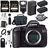 Canon EOS 5DS 5D S DSLR Camera + LPE-6 Lithium Ion Battery + External Rapid Charger + Canon 100ES EOS shoulder bag Bundle 1