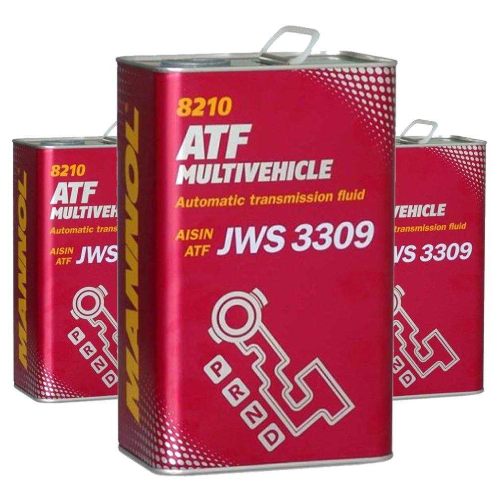 3 x 4L MN 8210 ATF Multivehicle / Automatikgetriebeö l JWS 3309 ATF Type T/T-II/T-III/T-IV SCT
