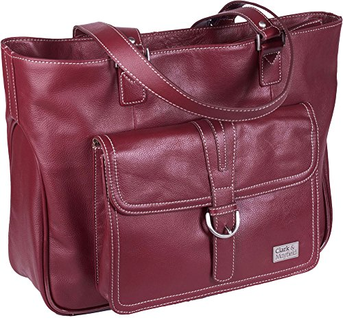 clark-mayfield-stafford-pro-leather-laptop-tote-156-deep-crimson-red