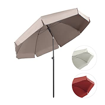 sekey sombrilla parasol para terraza jardn playa piscina patio dimetro cm protector solar uv