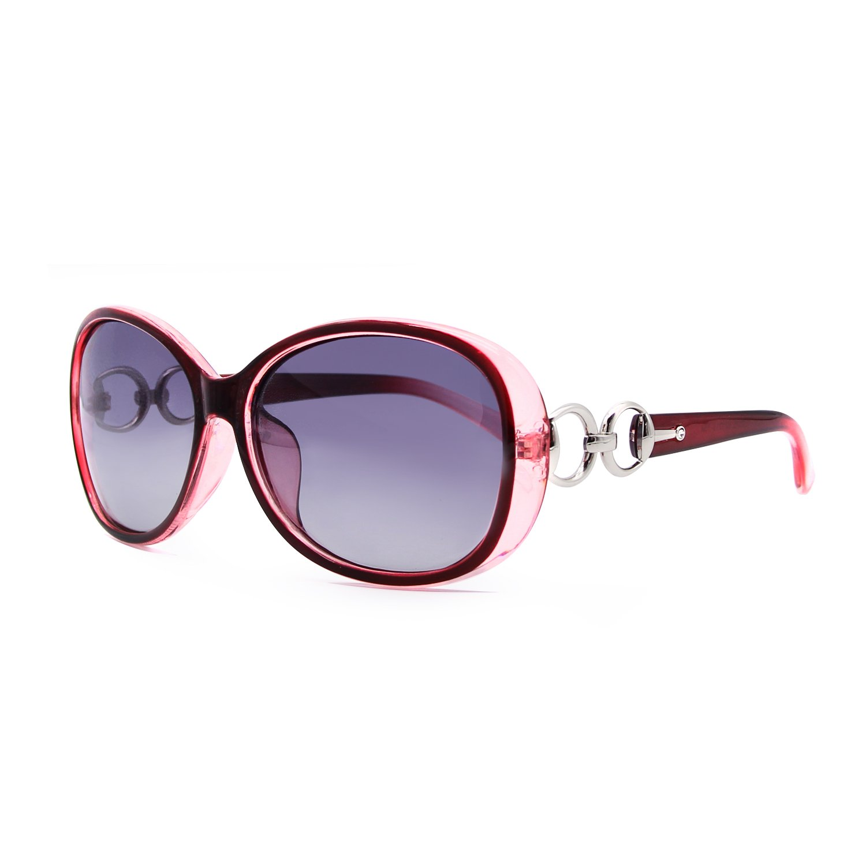VeBrellen Luxury Transparent Women's Polarized Sunglasses Retro Eyewear Oversized Square Frame Goggles Eyeglasses (Transport Frame With Red Lens, 60)