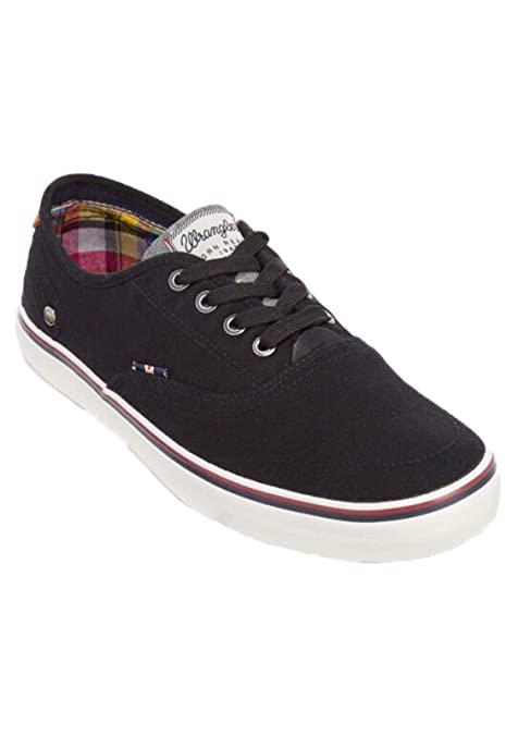 Wrangler - Zapatillas de Lona Hombre, Color Negro, Talla 41 EU
