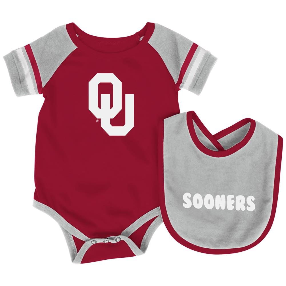 Colosseum Oklahoma Sooners Infant Roll-Out Onesie and Bib Set