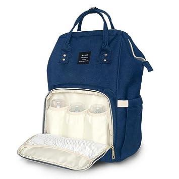 Baby Wickelrucksack Wickeltasche mit Wickelunterlage Multifunktional Oxford Gro/ße Kapazit/ät Babyrucksack Kein Formaldehyd Reiserucksack f/ür Unterwegs Blau