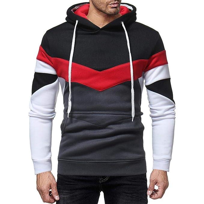 ♚Sudadera con Capucha para Hombre,Otoño Casual Patchwork Manga Larga Top Outwear Absolute: Amazon.es: Ropa y accesorios