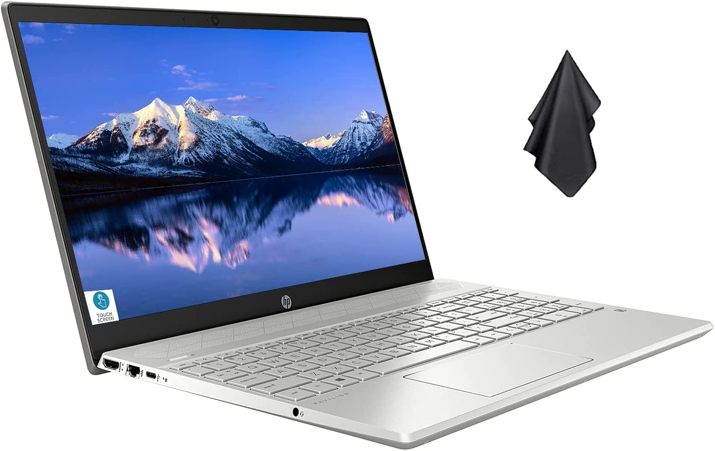 Newest HP Pavilion 15 inch FHD Touchscreen Laptop for Business or Student, Intel Core i5-1035G1 Processor(Up to 3.6GHz), 12GB DDR4 RAM, 512GB PCIe SSD, WiFi, Bluetooth, HDMI, Windows 10