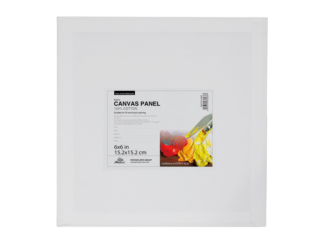 PHOENIX Painting Canvas Panel Boards 1//7 Inch Deep Super Value Pack for Professional Artists Students /& Kids 8x8 Inch // 12 Pack