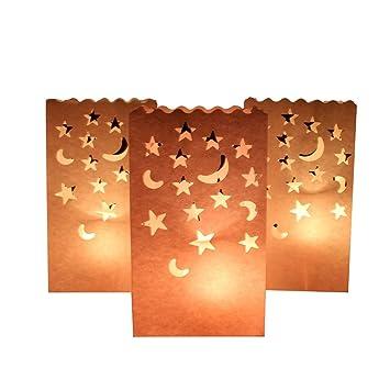 Amazon.com: aerwo 10 piezas diseño de luna y estrella ...