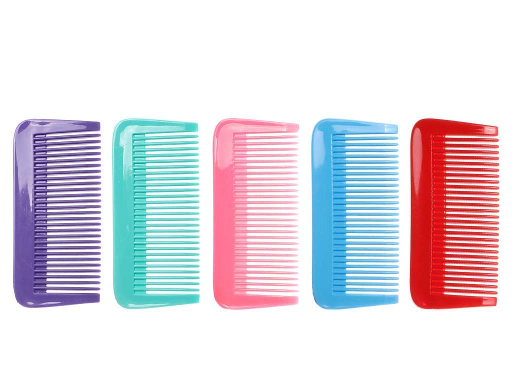 QITIMIR Jasmine Hair Comb Set 5 Color in Pack Hair Combs for Women and Men and Kids