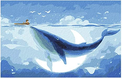 Amazon Co Jp Number Kit Painting For Diy Adults 5d Diamonds Allover Drilled White Whale Embroidery Art Crafts Canvas Home Wall Decor Paste Painting Color Blue Whale Size 60 60cm Home Kitchen