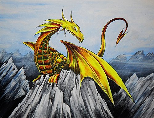 Buyartforless Anime Dragon 30x24 Art Print Poster Comic Con Japanese Characters by Ed Capeau Made in The USA ()