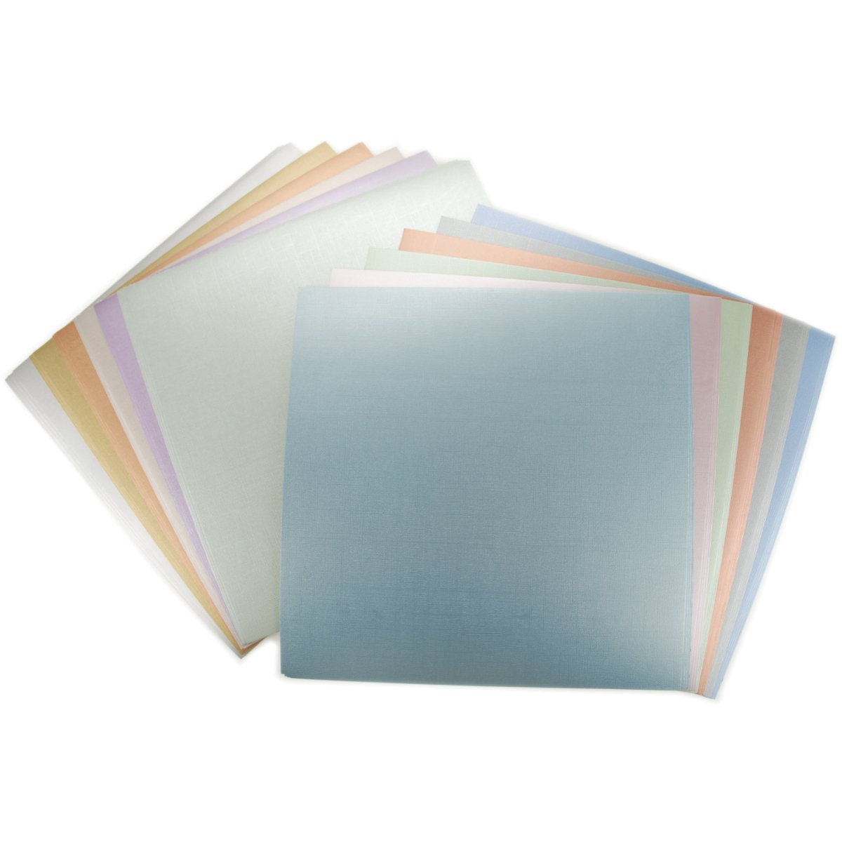 Multi colored cardstock paper - Amazon Com Diecuts With A View 12 Inches By 12 Inches Metallic Cardstock Stack
