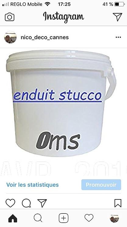 Enduit Stucco 100% natural gris