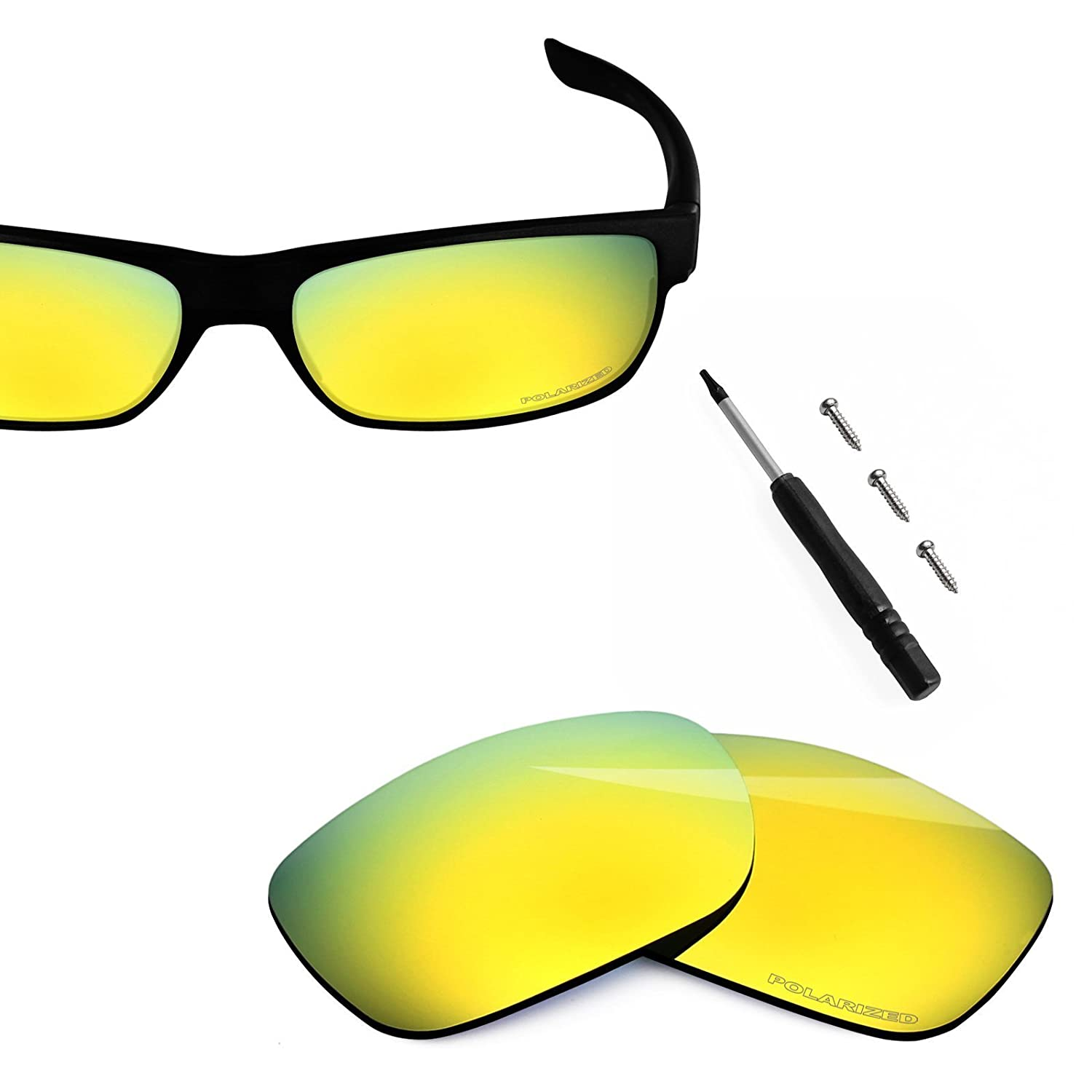 6392a798f7 Amazon.com  BlazerBuck Anti-salt Polarized Replacement Lenses for Oakley  TwoFace - 24K Gold  Clothing