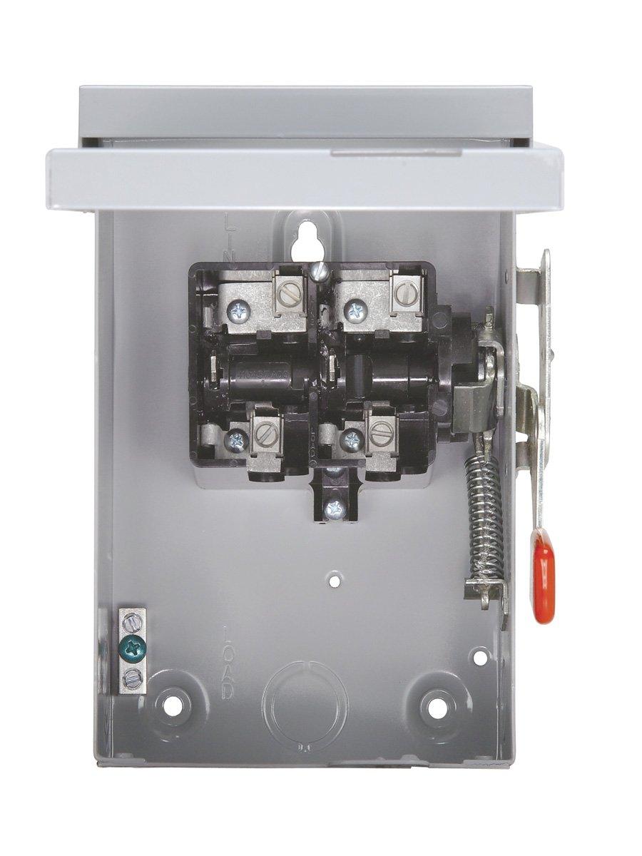 SIEMENS LF211NR 30 Amp, 2 Pole, 240-Volt, PLUG Fused, General Duty, W/N Outdoor Rated by Siemens