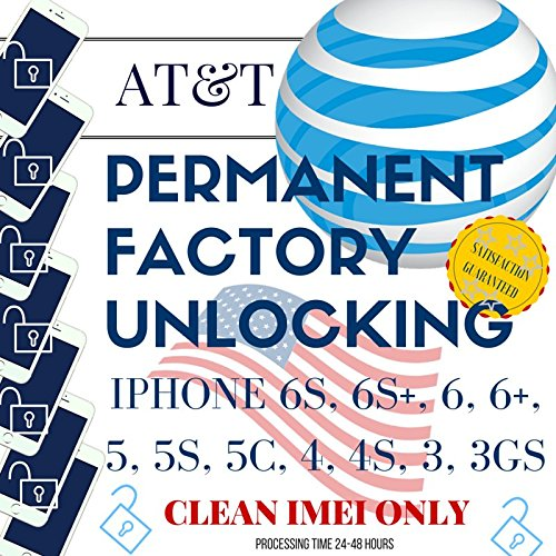 AT&T USA Permanent Factory Unlock iPhone 5, 5S, 5C, 6S, 6S Plus, 6, 6 Plus Out of Contract & Clean IMEI Only FAST Service. 1-48 Hours during work hours (Best No Contract Service Provider)