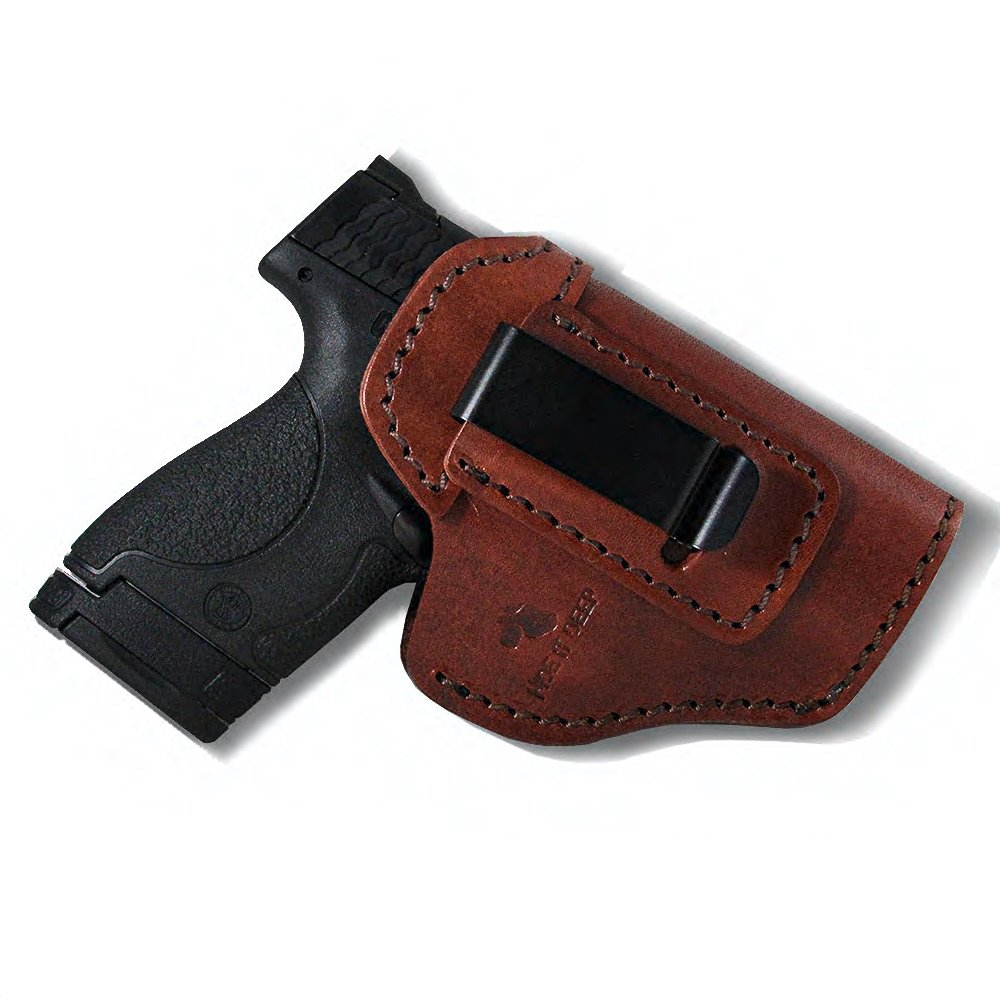 Hide It Deep Genuine Leather IWB Conceal Carry Holster for Glock 17
