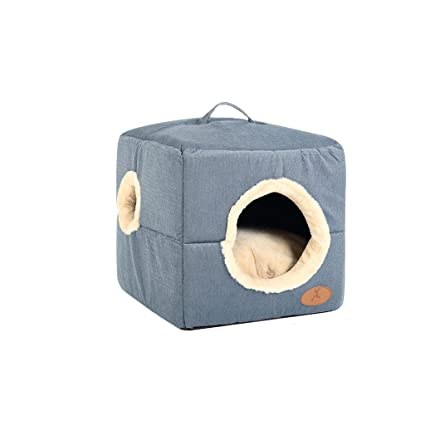 Cama de perros Casa Cama de mascota para gatos Perros pequeños Saco de dormir Cushioncat Best