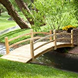 Coral Coast Harrison 8-ft. Wood Garden Bridge