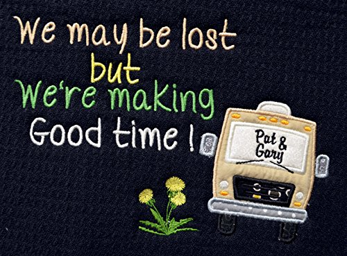 Personalized Dish Drying Mat made our list of personalized camping gifts for people who camp in tents and those who have RV campers!