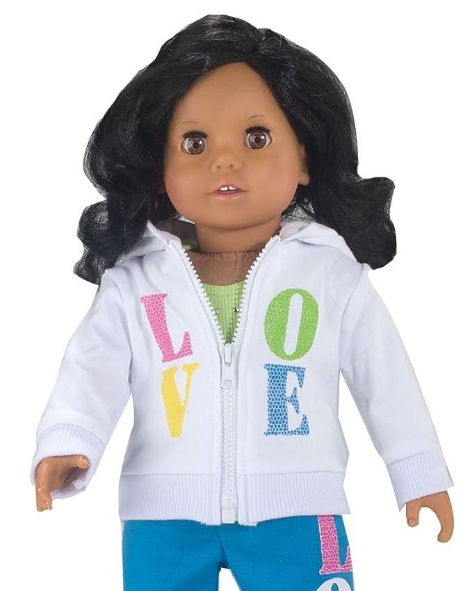 I Love Yoga 4pc Set Hoodie//Top//Pants//Shoes Fits 18 inch American Girl Dolls