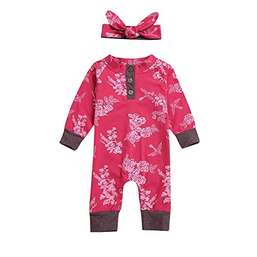 9da772d57 Amazon.com  Kehen 0-24M Newborn Infant Baby Girl Spring Clothes 2pc ...