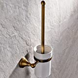 XY&XH Toilet Brush Holder , Antique Antique Brass Wall Mounted Toilet Brush Holder