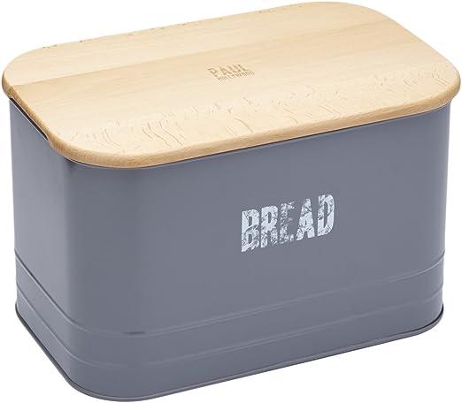 Paul Hollywood por Kitchencraft – Caja metálica para pan y pan de ...