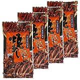 Spicy Baked Squid's Legs 0.4oz 4pcs Set Cayenne Pepper Japanese Appetizers Kujifood Ninjapo