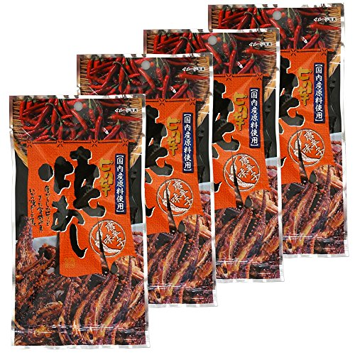 Spicy Baked Squid's Legs 0.4oz 4pcs Set Cayenne Pepper Japanese Appetizers Kujifood Ninjapo by Ninjapo