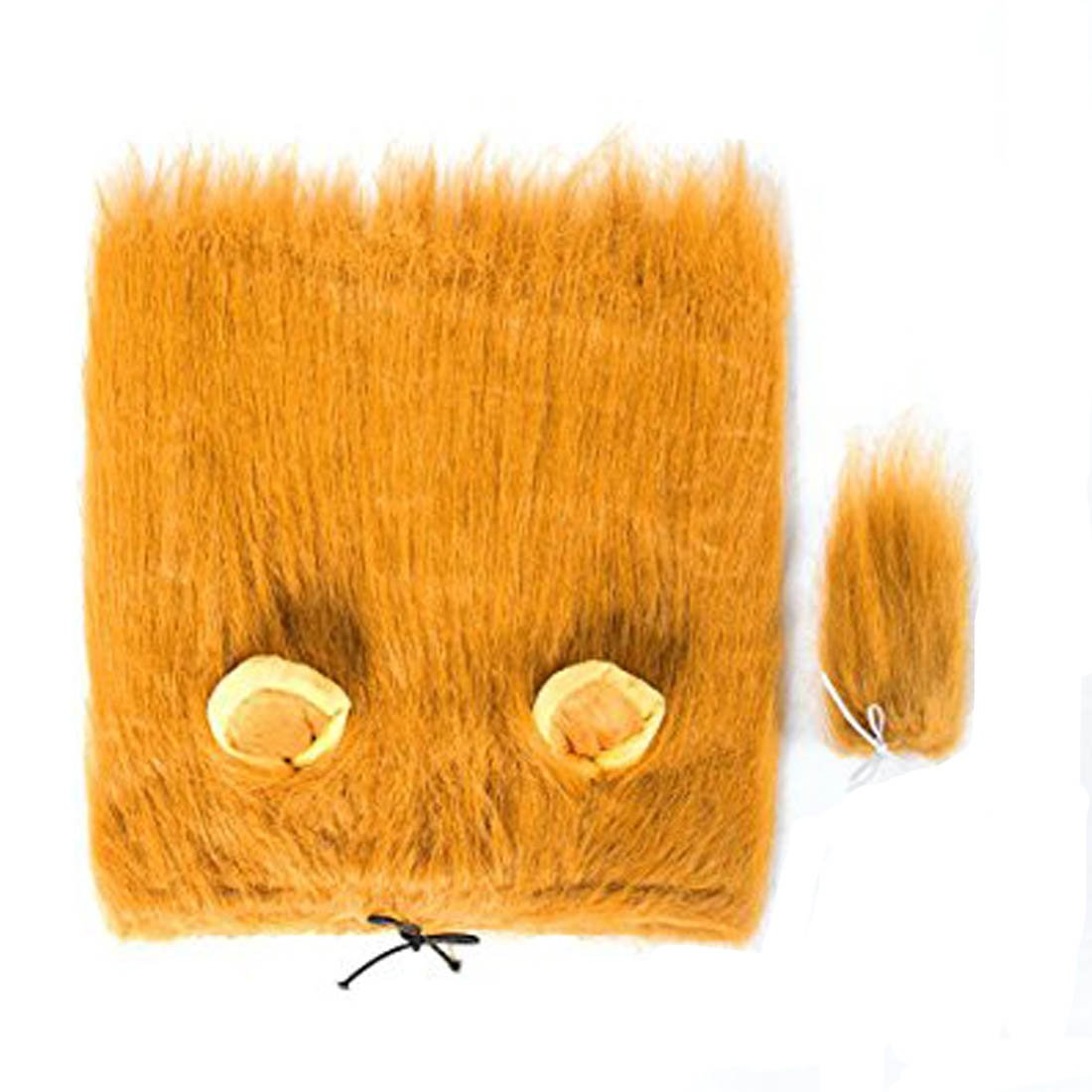 Light Brown M Light Brown M Dog Lion Mane Custume, Dog Lion Wig Hat with Ears & Tail for Halloween Festival Party (M, Light Brown)