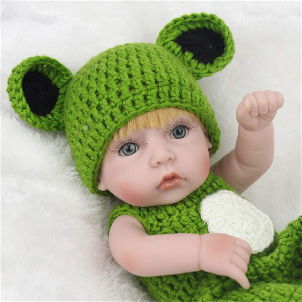 CRYPIN Fake Reborn Doll Frog with Soft Rubber Toy