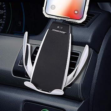 Cargador inalámbrico para automóvil, rotación de 360 ° del soporte del teléfono, compatible con Galaxy s6 a s9, compatible con iPhone 8 a 11 pro Max ...