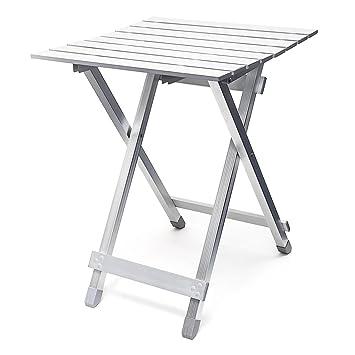 Relaxdays 10018248 Table pliante aluminium Table d\'appoint jardin ...