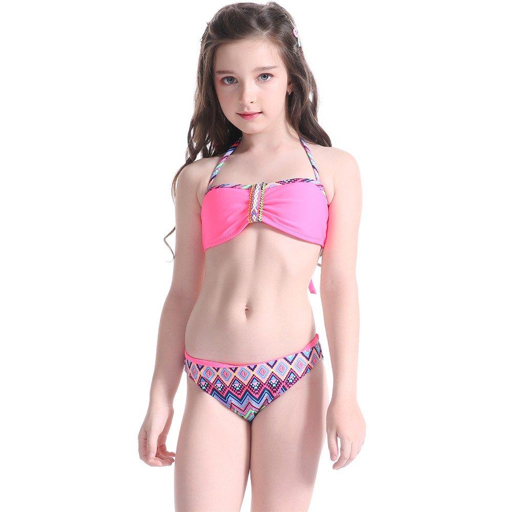 Amazon.com: iFANS Girls Tankini Bikini 2 Pieces Swimwear Swimming Bathing  Suit: Clothing
