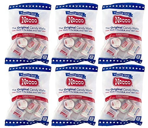 Set of 6 - 4oz Bags of Original Candy Wafers by Necco - Retro & Nostalgic Hard Candies - Includes Assorted Flavors Such as Orange, Lemon, Lime, Clove, Chocolate, Cinnamon, Licorice and Wintergreen! by Necco (Image #2)