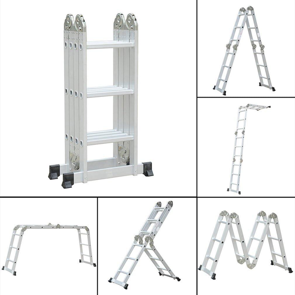chengshiandebaihu Leiter Ausziehbar,Teleskopleitern,Mehrzweckklappbare ausziehbare teleskopierbare Aluminiumleiter