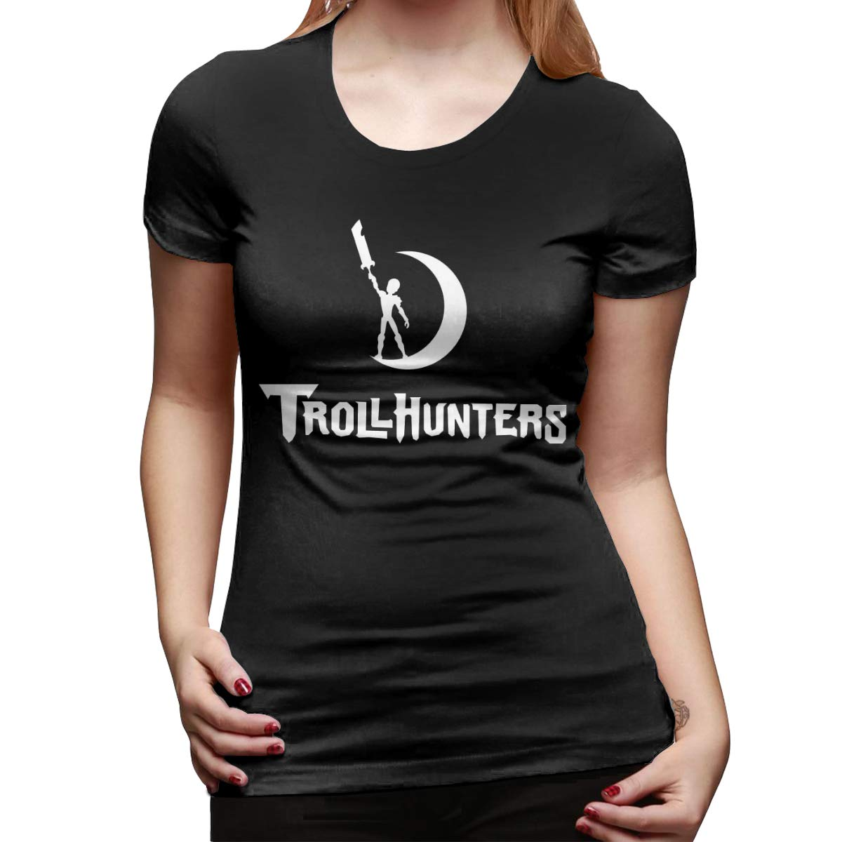 Longzhizi8 Womens T-Shirts Trollhunters Slim Fit Graphic Tees Tops Blouse Short Sleeve T-Shirt