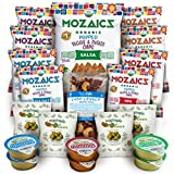 Best Sellers Snacks Premium Care Package – Great Gift or Sampler, Healthy Variety Pack Single Servings – Mozaics Chips, Veggicopia Dips & Olives, Cabo Crunch Nut Mix (20 Count)