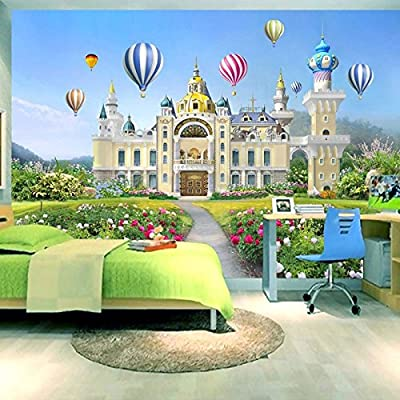 XLi-You 3D Fantasy Castle Fairy Playground Large Murals Children'S Room Nursery Wallpaper