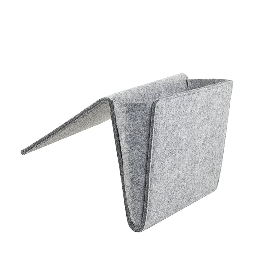 OUNONA Sofa Desk Hanging Pocket for organizing tablet Magazine Phone Small Things Holder (Grey)