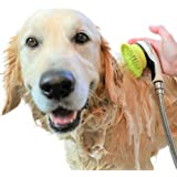 Wondurdog Quality Dog Wash Kit for Shower | Water Sprayer Brush & Rubber Shield | Shield Water from Dogs Ears, Eyes and…