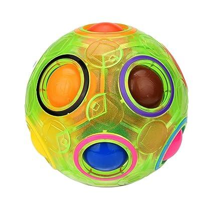 1//2PCS Stress Reliever Magic Rainbow Ball Fun Cube Fidget Puzzle Education Toy
